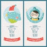Scheda di nuovo anno felice Fotografie Stock