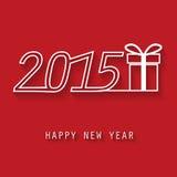 Scheda di nuovo anno felice Immagini Stock Libere da Diritti