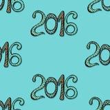 Scheda di nuovo anno felice Fotografia Stock