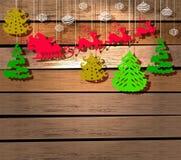 Scheda di nuovo anno per il disegno di festa Fotografia Stock