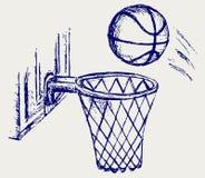 Scheda di pallacanestro illustrazione vettoriale