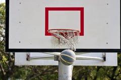 Scheda di pallacanestro e sfera di pallacanestro Fotografie Stock