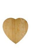 Scheda di pane di legno a forma di del cuore Immagine Stock
