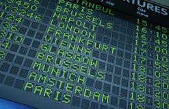 Scheda di partenza Fotografia Stock