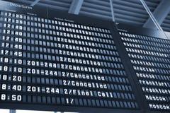 Scheda di partenza di arrivo Immagine Stock