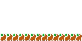 Scheda di pasqua con i coniglietti Fotografie Stock Libere da Diritti