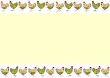 Scheda di pasqua con i polli Fotografia Stock Libera da Diritti