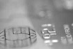 Scheda di Pin e del chip, in bianco e nero. Fotografia Stock Libera da Diritti