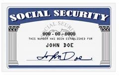 Scheda di previdenza sociale Immagini Stock Libere da Diritti