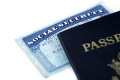 Scheda di previdenza sociale Fotografia Stock Libera da Diritti
