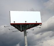 Scheda di pubblicità. Immagine Stock