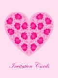 Scheda di rosa di colore rosa Fotografia Stock Libera da Diritti