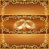 Scheda di saluto o dell'invito di cerimonia nuziale Fotografia Stock