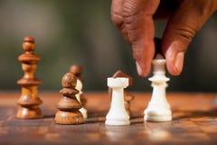 Scheda di scacchi Immagini Stock