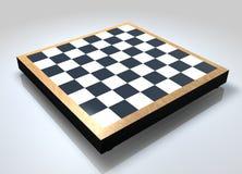 Scheda di scacchi in bianco Fotografia Stock