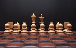 Scheda di scacchi con le figure immagini stock libere da diritti