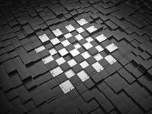 scheda di scacchi 3D Fotografia Stock