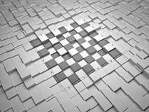 scheda di scacchi 3D Immagine Stock