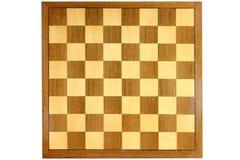 Scheda di scacchi di legno Fotografie Stock Libere da Diritti