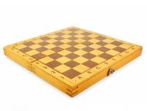 Scheda di scacchi di legno Fotografia Stock