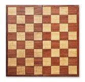 Scheda di scacchi di legno anziana isolata. Immagine Stock Libera da Diritti