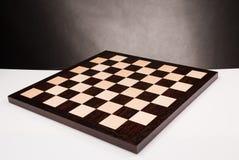 Scheda di scacchi di legno vuota Immagine Stock