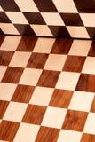 Scheda di scacchi di legno vuota Fotografia Stock Libera da Diritti
