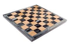 Scheda di scacchi di marmo isolata Fotografia Stock Libera da Diritti