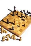 Scheda di scacchi nel checkmate Fotografie Stock