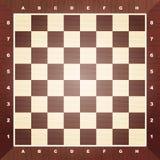 Scheda di scacchi vuota Fotografia Stock Libera da Diritti