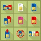 Scheda di Sim Fotografia Stock Libera da Diritti
