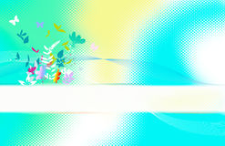 Scheda di Springflower Fotografia Stock