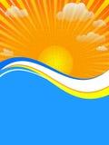 Scheda di Sun Fotografia Stock