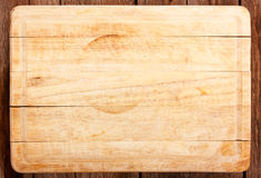 Scheda di taglio di legno fotografia stock