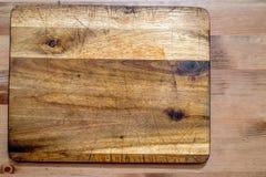 Scheda di taglio di legno anziana Fotografia Stock