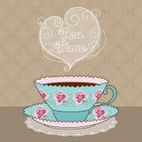 Scheda di tempo del tè Immagine Stock Libera da Diritti