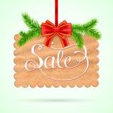 Scheda di vendita di Natale Fotografia Stock