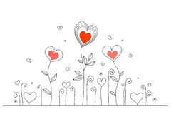 Scheda disegnata a mano di amore Fotografia Stock