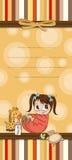Scheda divertente del fumetto dell'acquazzone di bambino Immagini Stock