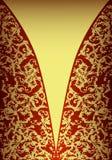 Scheda dorata reale royalty illustrazione gratis