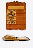 Scheda e bibbia della chiesa Immagini Stock