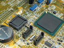 Scheda e componenti del calcolatore Fotografia Stock