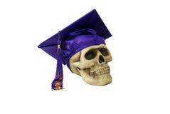 Scheda e cranio del mortaio di graduazione Fotografie Stock