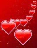 Scheda e fondo del giorno del biglietto di S. Valentino Immagini Stock Libere da Diritti