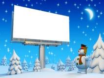 Scheda e pupazzo di neve di Copyspace Illustrazione Vettoriale