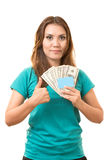 Scheda e soldi Immagine Stock Libera da Diritti