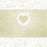 Scheda elegante del biglietto di S. Valentino con cuore.   Immagini Stock