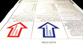 Scheda elettorale primaria presidenziale Immagini Stock Libere da Diritti