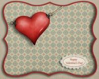 Scheda felice del biglietto di S. Valentino Fotografie Stock Libere da Diritti
