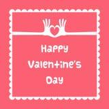 Scheda felice del giorno del biglietto di S. Valentino Fotografia Stock